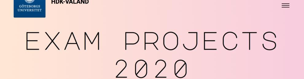 Examensprojekt på HDK-Valands hemsida